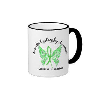 Grunge Tattoo Butterfly 6.1 Muscular Dystrophy Ringer Coffee Mug