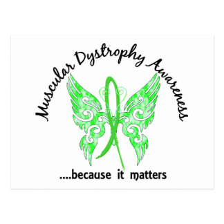 Grunge Tattoo Butterfly 6.1 Muscular Dystrophy Postcard