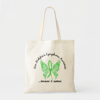 Grunge Tattoo Butterfly 6.1 Non-Hodgkin's Lymphoma Budget Tote Bag
