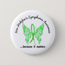 Grunge Tattoo Butterfly 6.1 Non-Hodgkin's Lymphoma Pinback Button