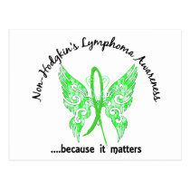 Grunge Tattoo Butterfly 6.1 Non-Hodgkin's Lymphoma Postcard