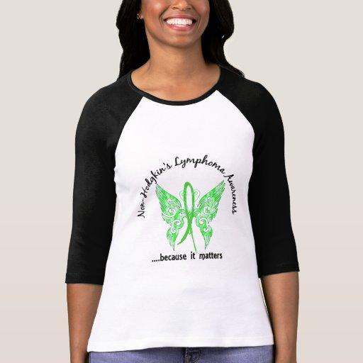 Grunge Tattoo Butterfly 6.1 Non-Hodgkin's Lymphoma Shirts