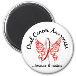Grunge Tattoo Butterfly 6.1 Oral Cancer Magnet