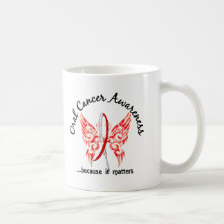 Grunge Tattoo Butterfly 6.1 Oral Cancer Classic White Coffee Mug