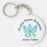 Grunge Tattoo Butterfly 6.1 Ovarian Cancer Key Chains