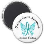 Grunge Tattoo Butterfly 6.1 Ovarian Cancer Refrigerator Magnets