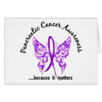 Grunge Tattoo Butterfly 6.1 Pancreatic Cancer Card