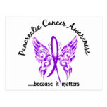 Grunge Tattoo Butterfly 6.1 Pancreatic Cancer Post Cards