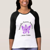 Grunge Tattoo Butterfly 6.1 Pancreatic Cancer T-Shirt