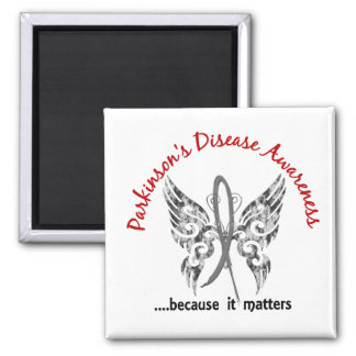Grunge Tattoo Butterfly 6.1 Parkinson's Disease Magnet