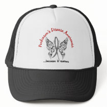 Grunge Tattoo Butterfly 6.1 Parkinson's Disease Trucker Hat
