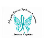 Grunge Tattoo Butterfly 6.1 PCOS Postcard