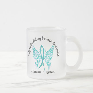 Grunge Tattoo Butterfly 6.1 PKD 10 Oz Frosted Glass Coffee Mug