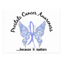Grunge Tattoo Butterfly 6.1 Prostate Cancer Postcard