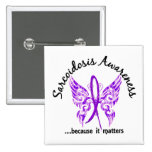 Grunge Tattoo Butterfly 6.1 Sarcoidosis Pinback Buttons