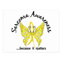 Grunge Tattoo Butterfly 6.1 Sarcoma Postcard