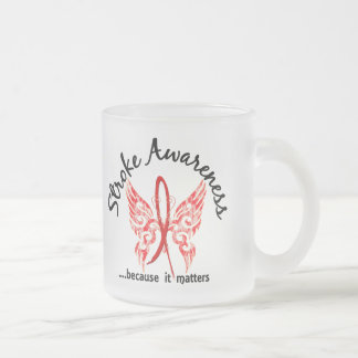 Grunge Tattoo Butterfly 6.1 Stroke Frosted Glass Coffee Mug