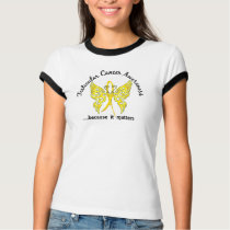 Grunge Tattoo Butterfly 6.1 Testicular Cancer T-Shirt