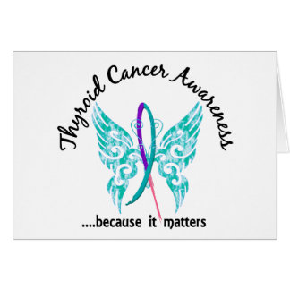 Grunge Tattoo Butterfly 6.1 Thyroid Cancer Cards