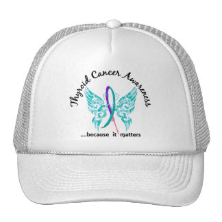 Grunge Tattoo Butterfly 6.1 Thyroid Cancer Mesh Hat