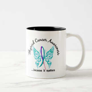 Grunge Tattoo Butterfly 6.1 Thyroid Cancer Coffee Mugs