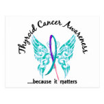 Grunge Tattoo Butterfly 6.1 Thyroid Cancer Post Card