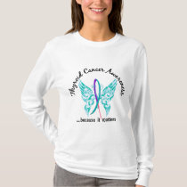 Grunge Tattoo Butterfly 6.1 Thyroid Cancer T-Shirt