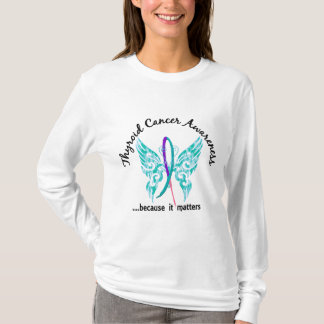 Grunge Tattoo Butterfly 6.1 Thyroid Cancer T-Shirt