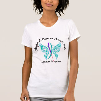 Grunge Tattoo Butterfly 6.1 Thyroid Cancer Tees