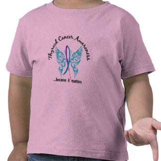 Grunge Tattoo Butterfly 6.1 Thyroid Cancer T-shirts