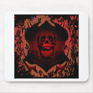 Grunge Tattoo Skull Full Background Mouse Pad