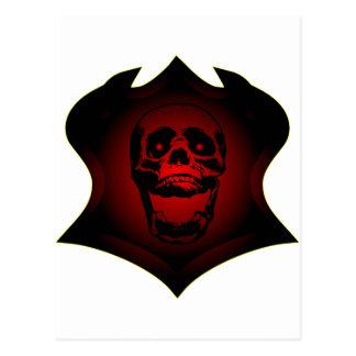 Grunge Tattoo Skull Postcard