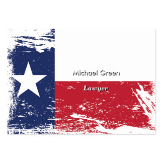 Grunge Texas Flag Business Card Templates