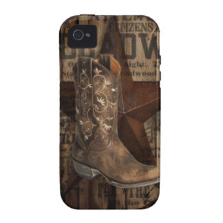 grunge texas star  western country cowboy iPhone 4 cases