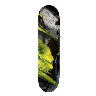 Grunge texture expressive brush strokes skate deck