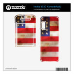 Grunge Textured American Flag Nokia 5730 Skin