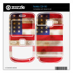 Grunge Textured American Flag Skin For The Nokia C3-00