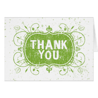 Grunge thank you card