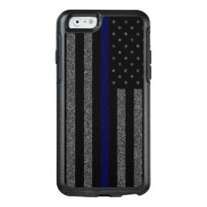 Grunge Thin Blue Line Flag Otterbox Iphone 6/6s Case at Zazzle
