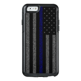 Grunge Thin Blue Line Flag OtterBox iPhone 6/6s Case