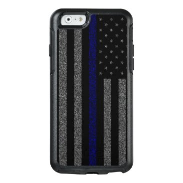 ThinBlueLineDesign Grunge Thin Blue Line Flag OtterBox iPhone 6/6s Case