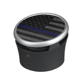 Grunge Thin Blue Line Flag Speaker