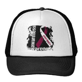 Grunge Throat Cancer Awareness Trucker Hat