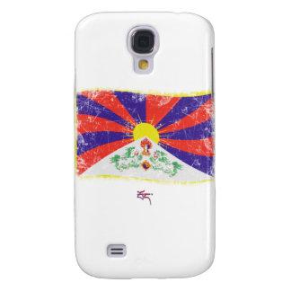 Grunge Tibet Flag Samsung Galaxy S4 Cover