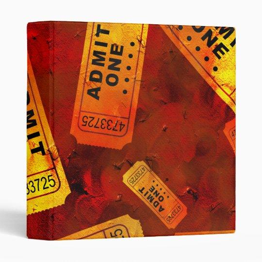 Grunge Tickets Binder