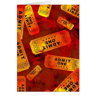 Grunge Tickets Card