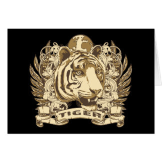 Grunge Tiger Card