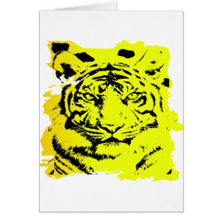 Grunge Tiger Tattoo Greeting Card