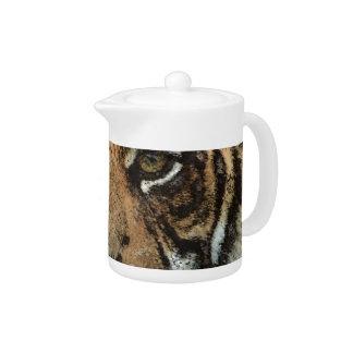 Grunge Tiger Teapot