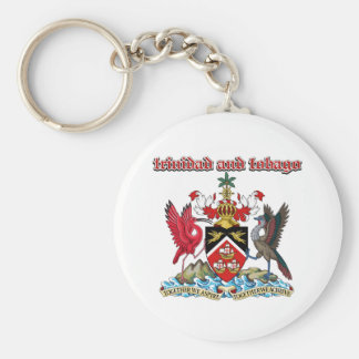 Grunge Trinidad and Tobago coat of arms designs Basic Round Button Keychain